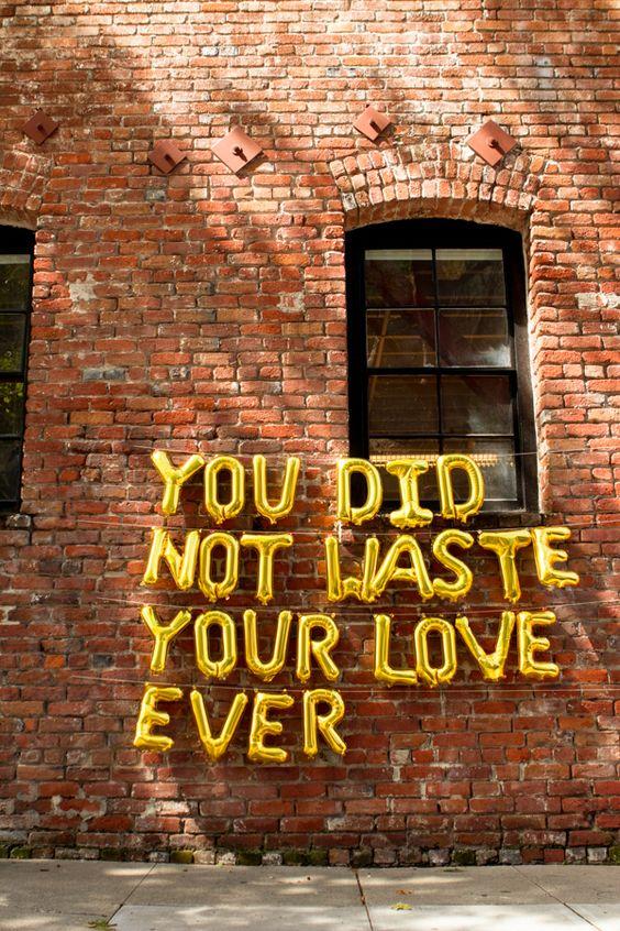 waste love