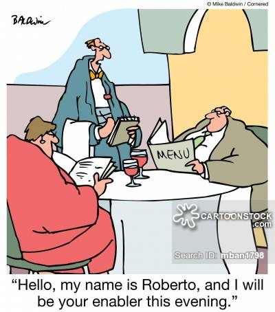 """""""Hello, my name is Roberto, and I will be your enabler this evening."""""""